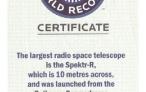 Спектр-Р попал в Книгу рекордов Гиннесса